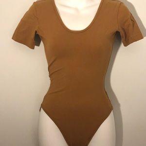 American Apparel Double U Neck Bodysuit NWT